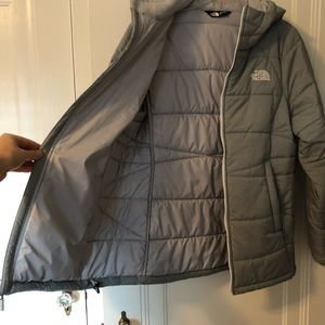 The North Face Jackets & Coats - North Face Gray Hooded Coat Size Large